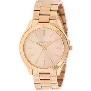 Michael Kors Women Rose Gold-Toned Dial Watch